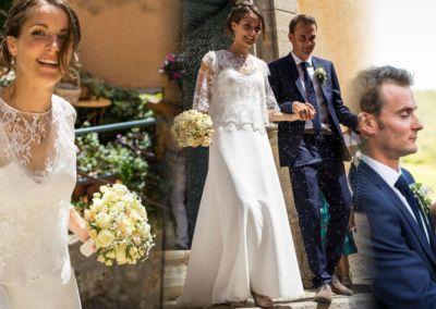 """Marie : Mariage le 7 Juillet 2017 avec le modèle Flora. """"La robe a fait un grand effet et c'était magique de la porter… UN grand moment de bonheur ! Merci . Marie"""""""