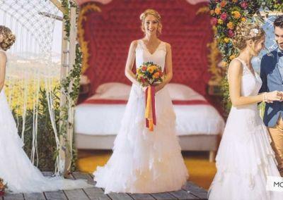 """Mélodie : mariage le 2 Septembre 2017 avec la robe Mare. """"Encore un grand merci de m'avoir accompagnée dans le choix de ma robe !! """" Mélodie"""