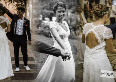"""Vanessa : Mariage le 16 Septembre 2017 avec la robe Luna. """"La robe a eu beaucoup beaucoup de succès, c'était un week-end parfait, magique, merveilleux. Encore merci!! A bientôt ."""" Vanessa"""