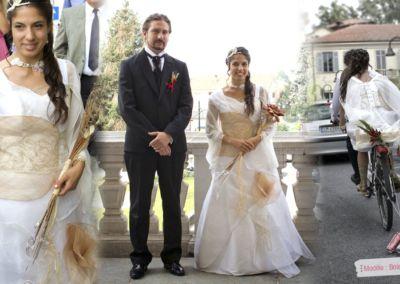 Alessia : Mariage le 7 septembre 2013 à Turin (Italie) avec le modèle Bois de Rose avec manches en mousseline. « Nel ringraziarti ancora per l'attenzione dimostrata per me. Alessia ».