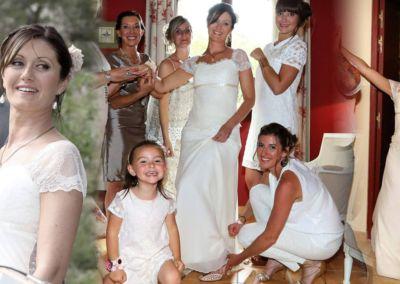 Aurélie: Mariage le 18 Juin 2016 aux Arcs avec le modèle Léontine.