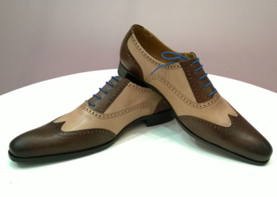 beige-marron - Chaussures personnalisables en cuir - Caralys Nice - Alpes Maritimes (06)