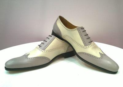 beige/gris - Chaussures personnalisables en cuir - Caralys Nice - Alpes Maritimes (06)