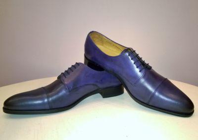 bleu mat - Chaussures personnalisables en cuir - Caralys Nice - Alpes Maritimes (06)