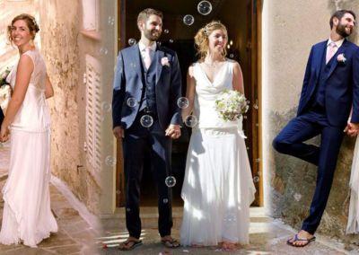 """Camille: Mariage le 19 Septembre 2015 à Cogolin avec le modèle Mistinguette. """"C'était un bonheur de porter ma robe ce jour là! Elle a eu beaucoup de succès et mon mari a eu les yeux qui brillaient! Encore merci pour vos conseils."""" Camille"""