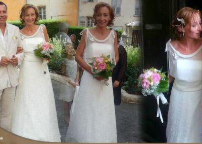 Caroline : Mariage le 7 septembre 2013 à Grasse avec le modèle Mélusine.