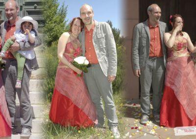 Carolyn : Mariage le 4 Mai 2013 à Nice avec le modèle Lola. « La robe était parfaite. Elle a eu beaucoup de succès. Merci beaucoup. Carolyn »