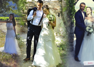 Céline (venue de New York): Mariage le 28 Juin 2014 à Villeneuve Loubet avec le modèle Gréta.