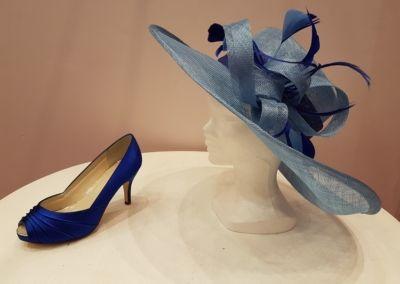 Chapeau et chaussures de cocktail, soirée et cérémonie teintés à la demande - Caralys Nice - Alpes Maritimes (06)