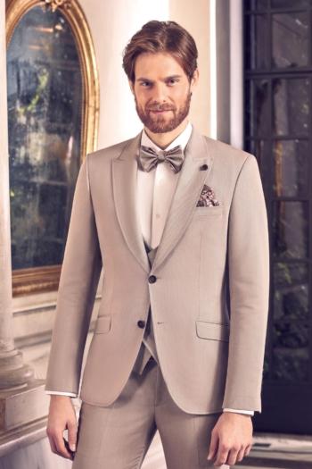 Costume de mariage 5 pièces coordonnées beige