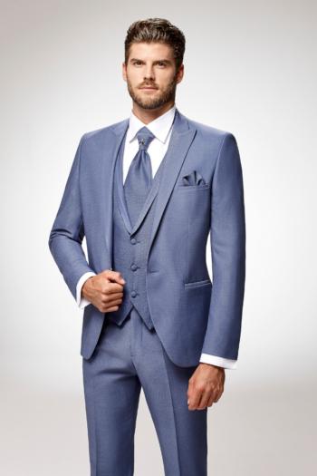 Costume de mariage 5 pièces coordonnées bleu ciel