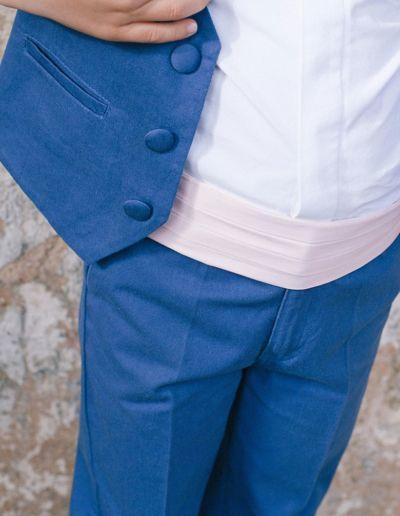 Ensemble gilet + pantalon mariage bleu roi petit garçon - Caralys Nice - Alpes Maritimes (06)