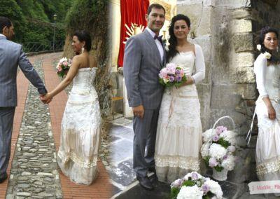 Eléonora : Mariage le 15 Juin 2013 à San Remo Italie avec le Filou-Fière. « Il vestito è piaciuto a tutti e io sono felicissima di averlo indossato… grazie per tutto !!! un abbraccio » Eleonora.