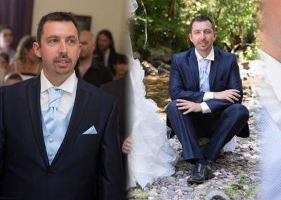 """Frédéric: Mariage le 18 Juillet 2015 à Nice avec un costume prêt à porter et un gilet sur mesure: : """"Merci pour toutes vos attentions cela m'a fait très plaisir"""". Frédéric"""