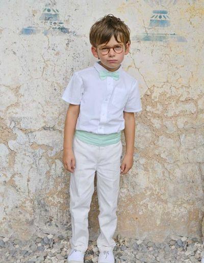 Ensemble gilet + pantalon mariage ivoire petit garçon - Caralys Nice - Alpes Maritimes (06)