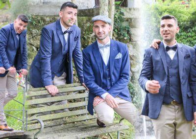 Jean-Philippe et Vincent: Mariage le 18 Juin 2016 à Cagnes Sur Mer avec deux costumes et gilets sur mesure