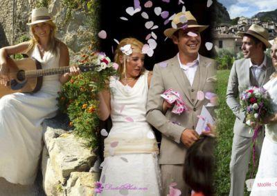 Jessica : Mariage le 1er Septembre 2012 dans l'arrière pays niçois avec le modèle Granité jupe dentelle.
