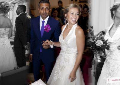 Johanne, mariée le 18 Août 2012 à Monaco, avec le modèle Gladys.