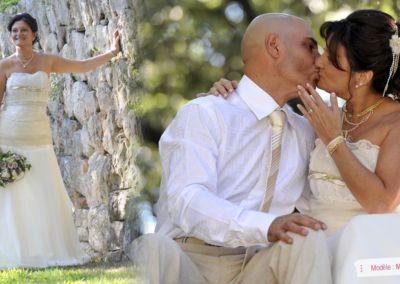Laurence : Mariage le 15 Septembre 2012 à Grasse avec le modèle Maligne. « Je vous remercie de votre professionnalisme et de votre accueil, nous avons fait un beau mariage magique, une superbe journée. Merci de vos conseils et de votre gentillesse » . Laurence