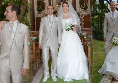 """Maria et Sergio : Mariage le 8 Aout 2015 en Italie avec le modèle Romance et un costume prêt à porter: """"Tout le monde a apprécié nos tenues pour leur qualité et élégance, nous en premier! Ma robe était si fraîche et légère que ça a été un bonheur de la porter pendant la journée. Merci Gabriella pour nous avoir très bien conseillé aussi dans l'assortiment ;) """""""