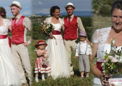 Marine et Misha : Mariage le 12 Juillet 2014 dans les Hautes Alpes avec le modèle Premier Baiser