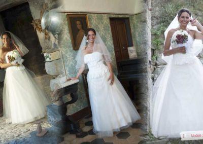 Marzia : Mariage le 30 Juin 2013 à San Remo (Italie) avec le modèle Ciel. « Chère Gabriella, voici quelques photos de mon mariage. C'était une fête magnifique et la robe n'était qu'un rêve. Je ne pouvais pas souhaiter mieux. Si quelqu'un me demande des conseils pour une robe de mariée, je vous l'enverrai. Merci pour votre professionnalisme et votre gentillesse. Marzia » .
