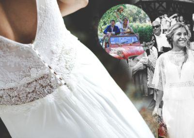"""Mélanie: Mariage le 2 juillet 2016 avec le modèle Emmeraude : """" Je souhaite vous remercier pour votre agréable et efficace collaboration à notre mariage ! Nous avons passé un moment de rêve entourés de nos familles et amis et vous y avez contribué. Merci!"""""""