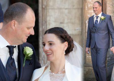"""Morgan: Mariage le 13 Août 2016 avec un costume prêt à porter. """"Le costume était parfait, (nous avons fait sensation!!) très agréable à porter, et ce malgré la chaleur! Nous vous remercions encore pour vos conseils dans notre achat et aussi, pour votre chaleureux accueil!"""" Morgan"""