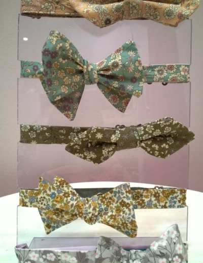 Noeuds papillons liberty -réalisables dans 300 coloris - Caralys Nice - Alpes Maritimes (06)