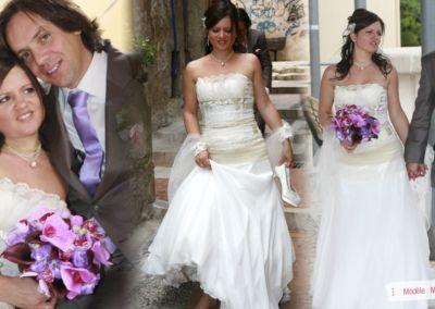 Priscilla : Mariage le 10 Mai 2013 à Nice avec les modele Maligne. « C'était une super journée, merci a vous. J'ai adoré porter ma robe, c'est passé trop vite comme dans un reve… encore merci »