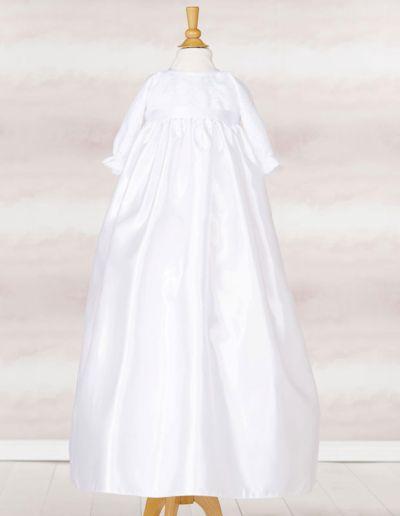 Robe de baptême traditionnelle longue - blanc - Caralys Nice - Alpes Maritimes (06)