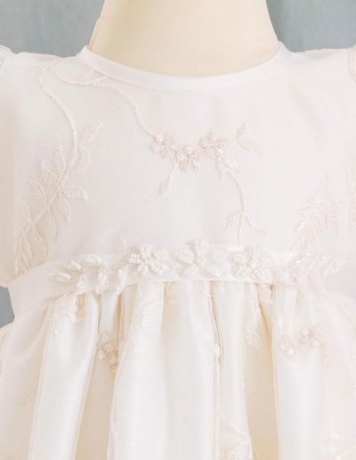 Robe de baptême - blanc cassé- Caralys Nice - Alpes Maritimes (06)