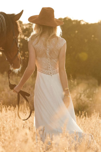 Robe de mariée boheme Funny Marylise