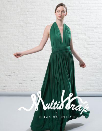 Diva vert-foret - Robe de soirée et de demoiselle d'honneur - Caralys Nice - Alpes Maritimes (06)