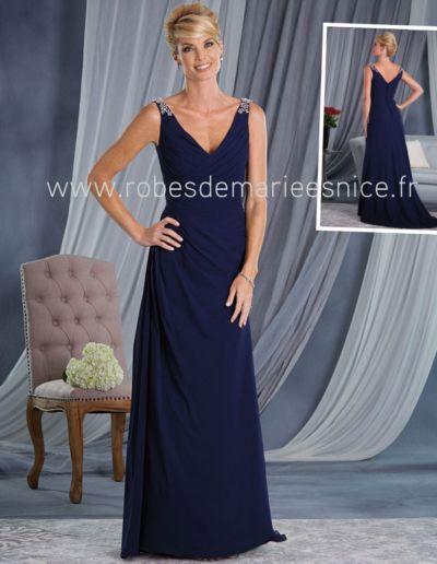 Robe de soirée et robe pour Maman des mariés - réalisable en 50 coloris sur commande - Caralys Nice - Alpes Maritimes