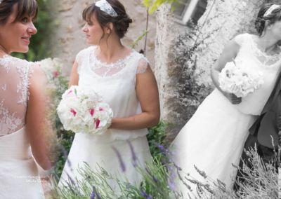 """Céline: Mariage le 18 Juin 2016. """"Gabriella, merci encore à vous pour votre accueil et votre aide. Je n'ai eu que des compliments sur ma robe. Bonne continuation."""" Céline"""