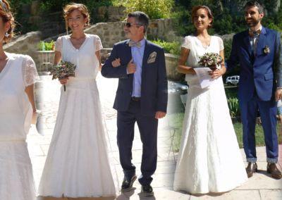 """Merryl: Mariage le 25 Juin 2016 avec le modèle Margot: """"Beaucoup de compliments sur cette robe. On m'a affirmé être la """"plus belle mariée jamais vue"""" au moins une dizaine de fois. Et mon mari a tellement pleuré en me voyant! C'était magique! Merci!"""" Merryl"""