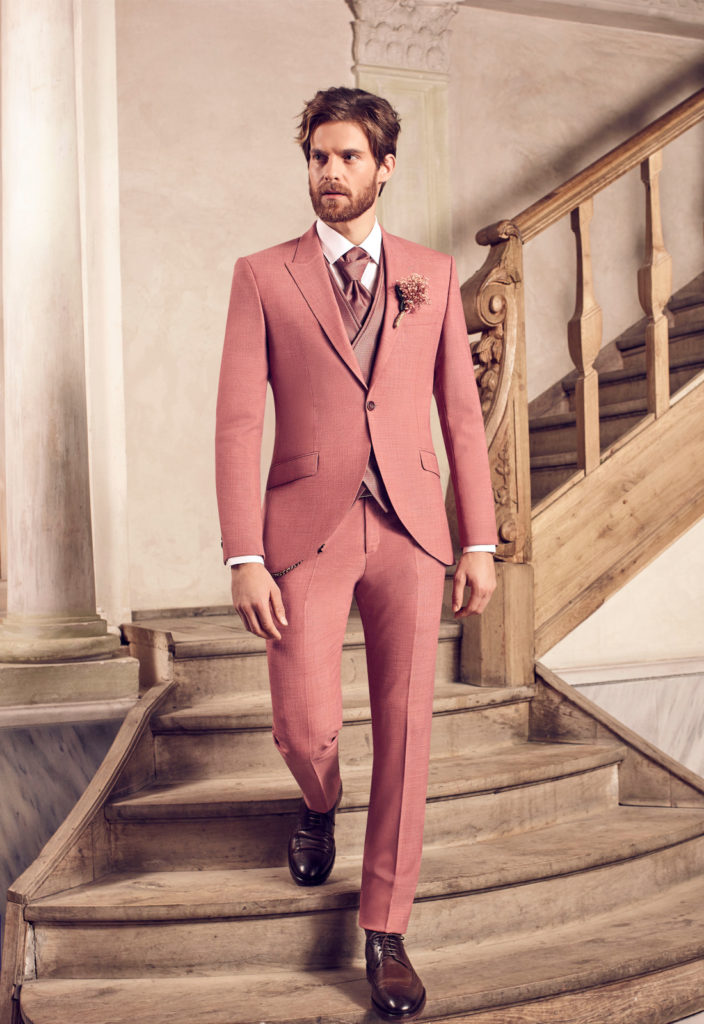 costume homme mariage rose 3 pieces nice alpes maritimes 06 paca