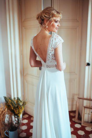 Robe de mariée bohème Joséphine - ELSA GARY - Caralys Nice