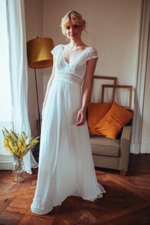 obe de mariée bohème Ombeline ELSA GARY - Caralys Nice
