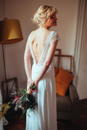 Robe de mariée bohème Ombeline ELSA GARY - Caralys Nice