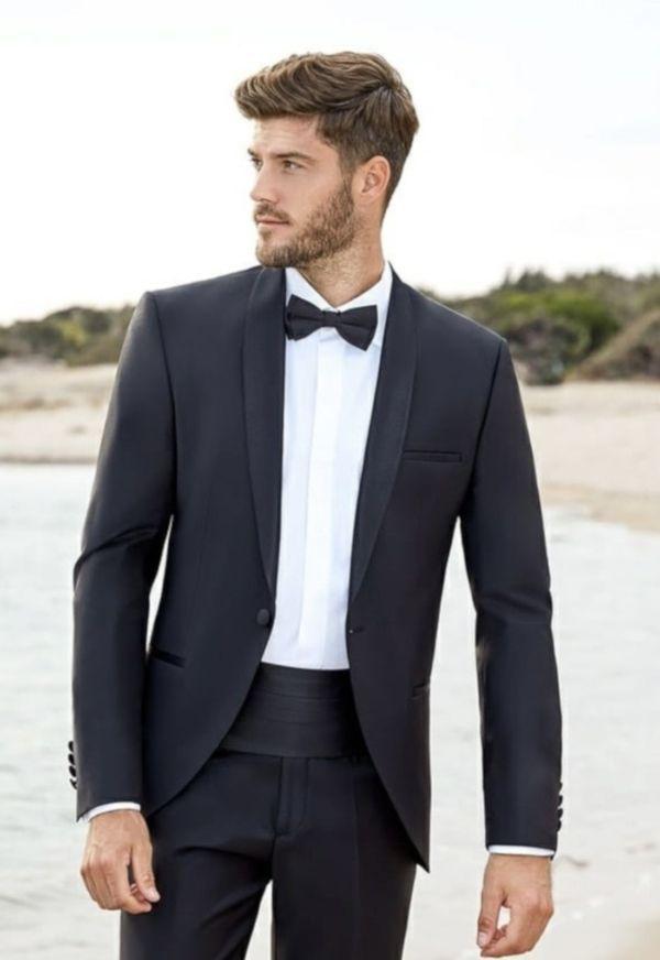 Costume de mariage smoking noir