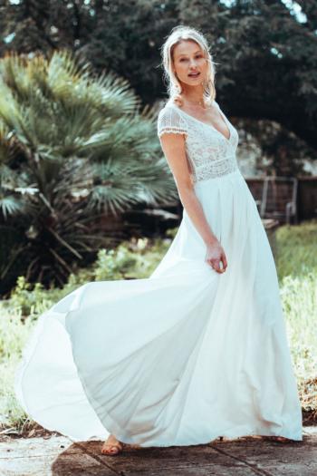 Robe de mariée rétro Espérance Elsa Gary
