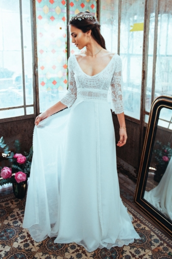 Robe de mariée rétro Essentielle Elsa Gary