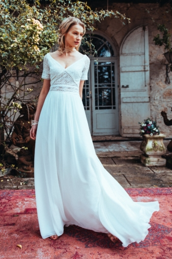 Robe de mariée rétro Etincelle Elsa Gary