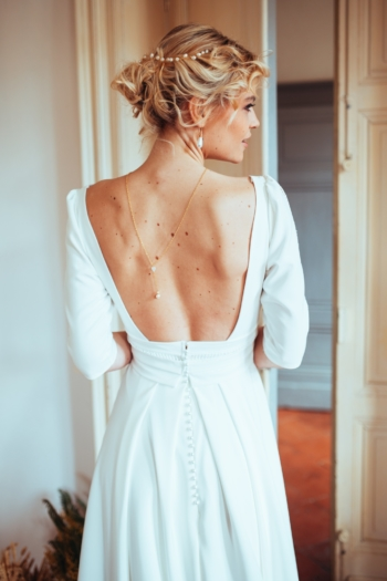 Robe de mariée rétro Lina Elsa Gary